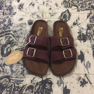 NWT White Mountain Burgundy/Wine Sandals